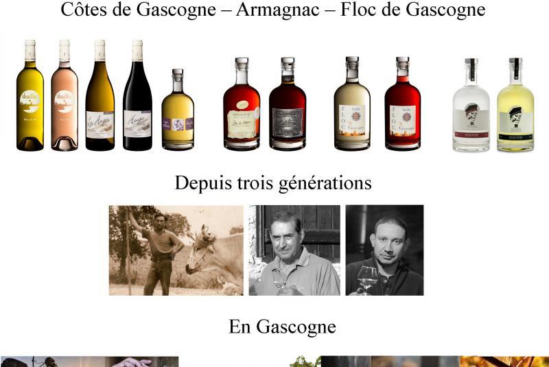 Commande de Vins et d'Armagnac Domaine de la Haille